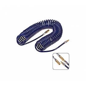 Шланг спиральный для пневмоинструмента с переходниками 8*12*15м Alloid ШП-81215
