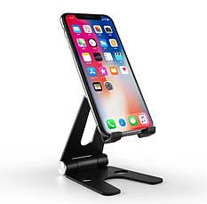 Подставка для телефона и планшета  Holder -V Чёрная складная алюминиевая  настольная, фото 2