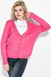 Кофта женская с рюшами 81PD1182 (Темно-розовый)