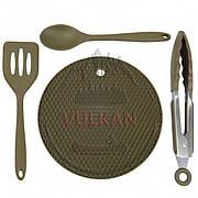 Набор силиконовой посуды Trakker Armolife Silicone Utensil Set (подставка, лопатка, ложка и захват)
