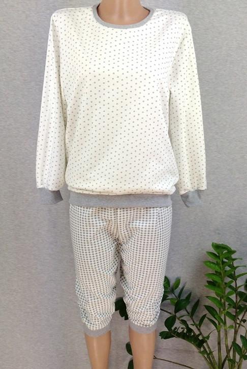 Тепла піжама жіноча начіс зимова бавовняна кофта з брюками Україна