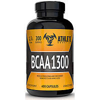 BCAA аминокислоты Athlete Genetics BCAA 1300 (400 капсул)