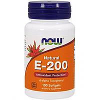 Витамин Е NOW E-200 DA (100 гелевых капсул)