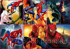Магниты М7 Человек-паук 45*50 набор из 6шт в блистере
