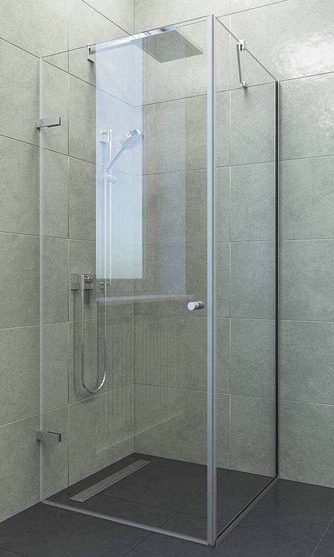 Изготовление стеклянных душевых кабин на заказ без подонна, скляні душові кабіни, угловые душ кабины из стекла
