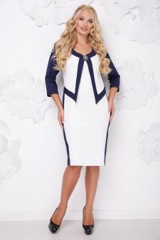 Стильное платье     (размеры 50-62) 0223-21