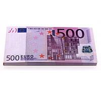 Денежный блокнот пачка 500 ЕВРО ( пачка денег блокнот )
