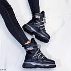 Женские зимние черные ботинки, из натуральной кожи 37 ПОСЛЕДНИЙ РАЗМЕР, фото 2