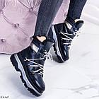 Женские зимние черные ботинки, из натуральной кожи 37 ПОСЛЕДНИЙ РАЗМЕР, фото 3