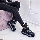 Женские зимние черные ботинки, из натуральной кожи 37 ПОСЛЕДНИЙ РАЗМЕР, фото 5