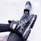 Женские зимние черные ботинки, из натуральной кожи 37 ПОСЛЕДНИЙ РАЗМЕР, фото 6