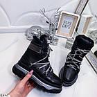 Женские зимние черные ботинки, из натуральной кожи 37 ПОСЛЕДНИЙ РАЗМЕР, фото 7