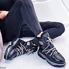 Женские зимние черные ботинки, из натуральной кожи 37 ПОСЛЕДНИЙ РАЗМЕР, фото 8