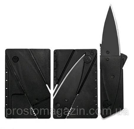 Складной нож кредитка, карта выживальщика