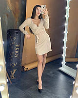 Шикарное платье люрекс на запах