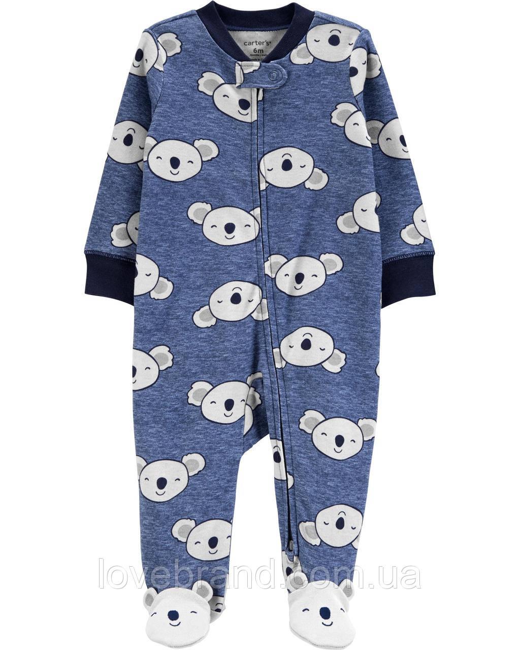 """Хлопковый человечек Carter's для мальчика """"Миленькие коалы"""" для новорожденных 6 мес/61-67 см"""