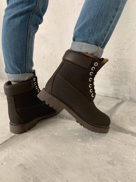 Женские нубуковые ботинки Timberland Brown