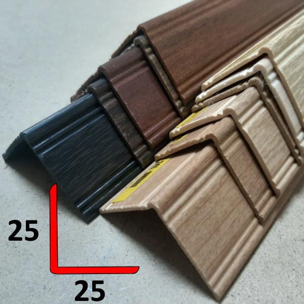 Угол наружный фигурный из вспененного ПВХ 25х25, 2,7 м