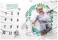 Фотоплед , фотоодеяло , плед для новорождённых для фотосессии