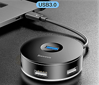 USB Type-C Hub на 4 выхода, *1 USB3.0 *3 USB2.0 фирмы Baseus