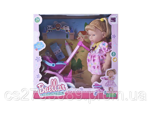 Кукла 38 см с аксессуарами и коляской, фото 2