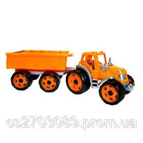 *Транспортна іграшка Трактор з причепом*