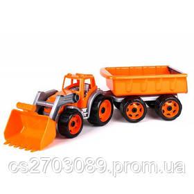 *Транспортна іграшка Трактор з ковшем і причепом*