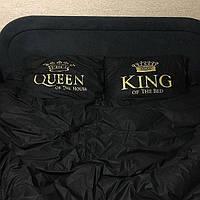 Двуспальный комплект постельного белья черный