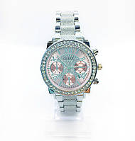 Женские наручные часы Guess (Гесс), серебро с розовым циферблатом ( код: IBW255SP )