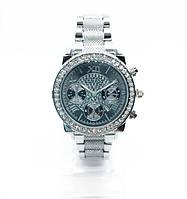 Женские наручные часы Guess (Гесс), серебро с черным циферблатом ( код: IBW255SB )