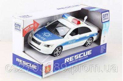 Машинка фрикционная полиция, свет, звук, фото 2