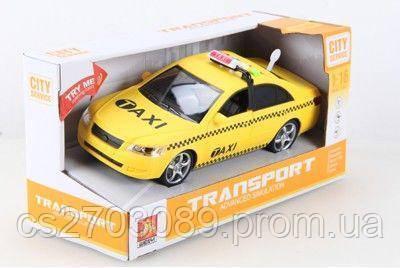 Машинка фрикционная такси, свет,звук