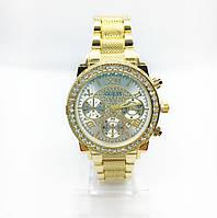 Жіночі наручні годинники Guess (Гесс), золото з білим циферблатом ( код: IBW255YO ), фото 1