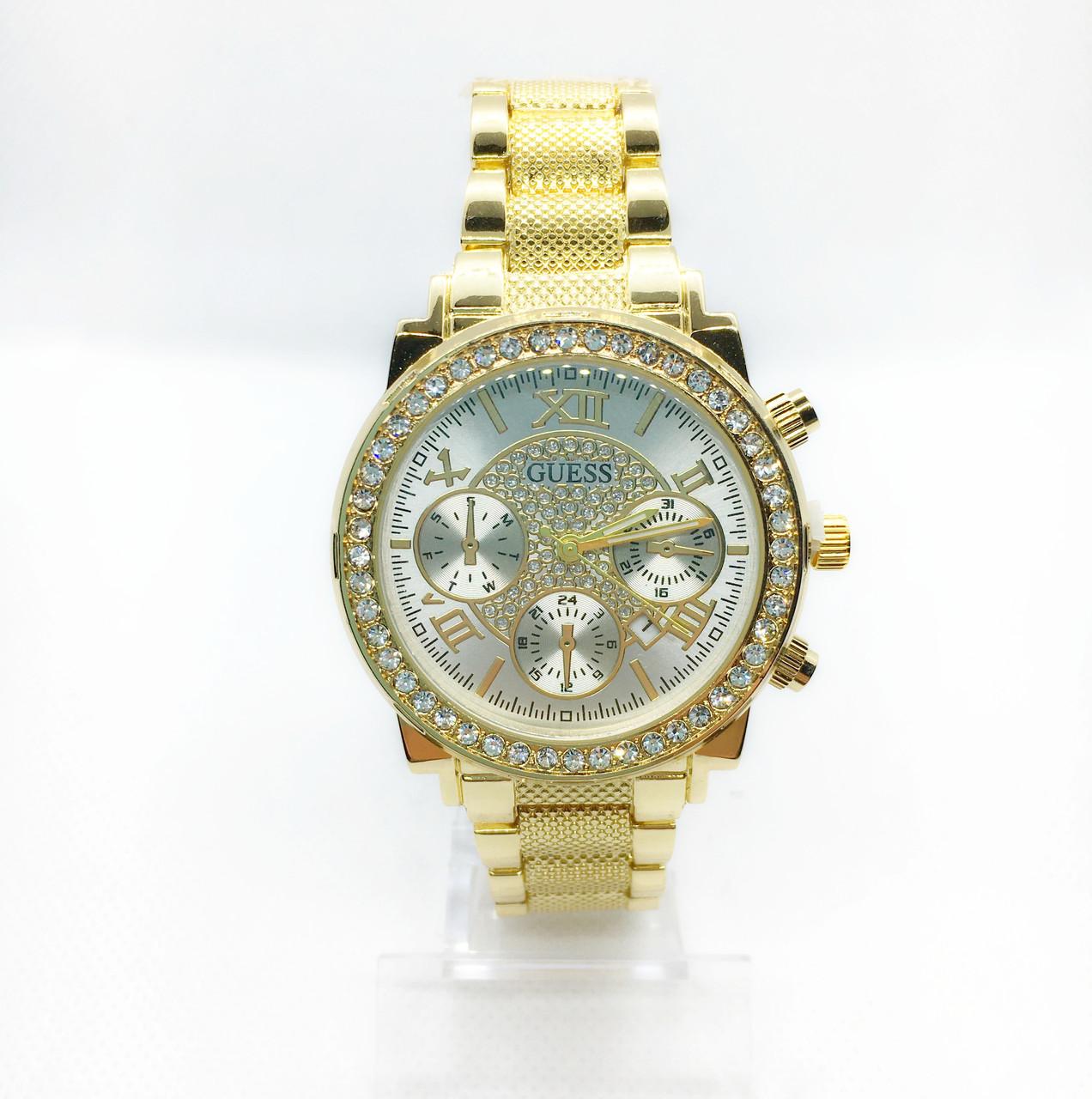 Жіночі наручні годинники Guess (Гесс), золото з білим циферблатом ( код: IBW255YO )