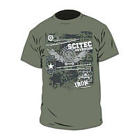 Футболка Scitec Nutrition T-Shirt Made Of Iron Green