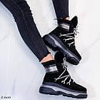 Женские зимние черные ботинки, из натуральной замши 39 ПОСЛЕДНИЙ РАЗМЕР, фото 4