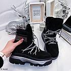 Женские зимние черные ботинки, из натуральной замши 39 ПОСЛЕДНИЙ РАЗМЕР, фото 6