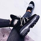 Женские зимние черные ботинки, из натуральной замши 39 ПОСЛЕДНИЙ РАЗМЕР, фото 7