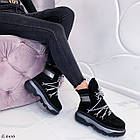 Женские зимние черные ботинки, из натуральной замши 39 ПОСЛЕДНИЙ РАЗМЕР, фото 8