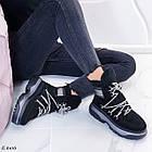 Женские зимние черные ботинки, из натуральной замши 39 ПОСЛЕДНИЙ РАЗМЕР, фото 9