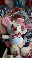 Игрушка брелок Мышка высота 12 см, 4 цвета