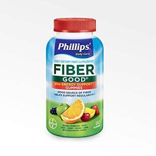 Bayer Phillips' Daily Care Fiber Good  желейки с клетчаткой и инулином + витамины для борьбы с запорами 80 шт