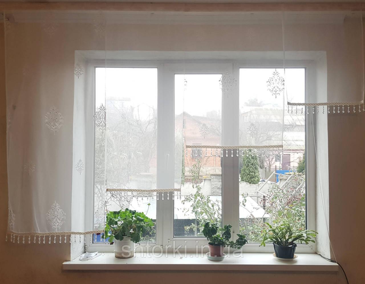 Комплект панелек Коронка со стеклярусом