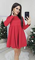 Платье женское чёрное, красное, серое, бежевое, 42-44, 44-46, фото 1