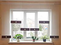 Комплект панелек Белые с коричневым низом, фото 1