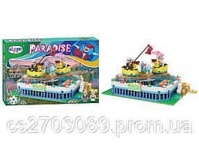 Конструктор парк атракционов - карусель бассейн с лодками , 226 дет
