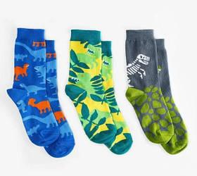 Шкарпетки дитячі Dodo Socks Dino 2-3 роки, набір 3 пари