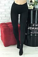 Колготы женские на флисе черные размер 46-48 Ира А-01