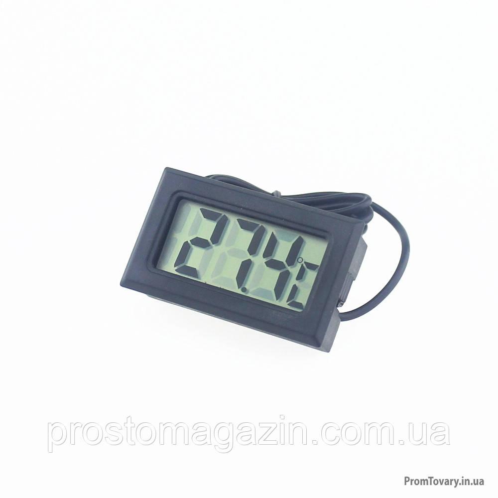 Электронный Термометр с выносным датчиком, длина провода 1м