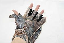 Перчатки - варежки для охоты и рыбалки LeRoy (камыш, дюспо бондинг), фото 3